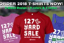 127 Yard T-shirts / Official 127YardSale.com T-Shirts. There's a new design every year so you can collect them all! Only available online.