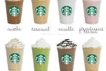 Starbucks  / All different kinds of flavors for me to try...I go there everyday!