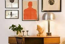 gallery wall: eclectic mix