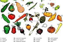 desenhos para verduras e legumes