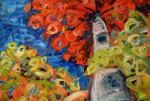 acrylic + gouache art / by Deanna Hutton