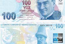 Billets Turquie / La livre turque est l'unité monétaire principale de la Turquie et de la République turque de Chypre du Nord. Les billets de banque Turquie en circulation sont : 5, 10, 20, 50, 100 et 200 livres turques.