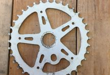 Vintage Bike sprocket crank shaft wheel