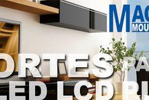 Soportes para pantallas / Soportes para pantallas plasma, LCD, LED, 3D,
