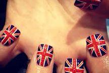 engelse vlag / nagels