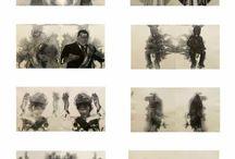 Obras Alfonso Beleño / Pinturas y dibujos obra plástica Alfonso Beleño Contreras
