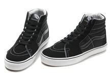Vans Men & Women Suede/Canvas Sk8-Hi Shoes Black/Black