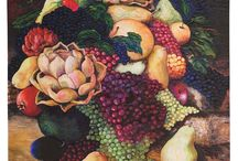 Food for Thought / This exhibition allows artists to explore any aspects of food that they find inspirational – from a single piece of fruit, to a still life, to the family table, to the significance of food in culture and the celebration of family milestones and religious holidays.  Premiering at the National Quilt Museum April 2015.