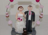 Figurines de mariage personnalisées (galerie 2013-2015) / Quelques exemples de figurines personnalisées, réalisées sur mesure d'après photos et/ou descriptif