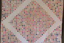 Postage stamp quilts / No scrap too small!