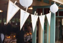 DIY Wedding Bunting / DIY bunting for your wedding and seating plan. http://www.toptableplanner.com/blog/make-your-own-wedding-bunting