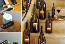 botellas candelabro