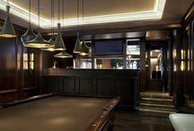 Salle loisirs / jeux bar deco