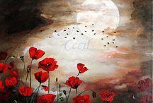 Obrazy - Kvety na stenu / Všetky moje obrazy nájdete na stránke :http://www.sashe.sk/Cecil alebo https://www.facebook.com/pages/Handmade-Cecil/120419231440088?ref=hl alebo http://obrazy2.webnode.sk/