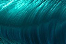 Waves of a tsunami