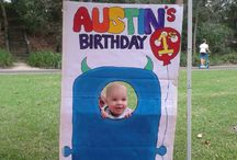 Austin's monster 1st birthday / Monster theme. All the decorations were hand made by myself. Hope the help you with ideas for your own monster party.