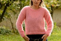 Mohair & Wool Crew neck Sweaters Jumpers