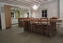 100%Minerale vloer in huis / Een schitterende 100%Minerale (woonbeton, betonlook. betonvloer, leefbeton) in een woning. Prachtig gelegd.