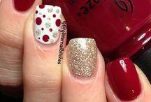 decoración  de uñas rojas