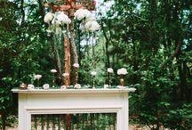 Ceremony in woods