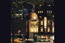 東京駅。 The Tokyo station #nightview #station #tokyostation #cityview #夜景 #東京駅 #丸の内写真
