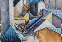 Houses, cities - the eyes of painters