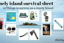 Lonely Island Survival Sheet