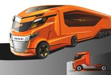 DAF Truck Design Concept Sketches Future