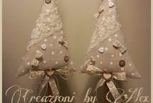 decorazioni natalizie in  stoffa