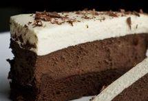 τούρτα με τρεις σοκολατες