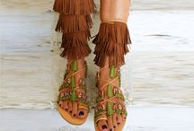 tie up sandals/ boho sandals/ gladiator sandals/ ethnic sandals/ fringed sandals/ mago sisters