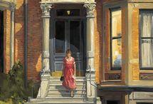Bina ve dış mekan resim-tablo
