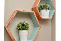 mid century wall shelf