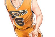 Shintarou Midorima (+Takao) / three point shooter from Shutoku High School, boyfriend of Takao Kazunori