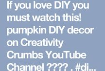 My Youtube Channel  / Welcome in my YouTube Channel. Find some lovely ideas for a creative diy or simply watch my videos on Creativity Crumbs Channel!