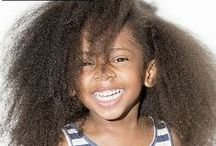 black child's hair