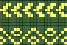grilles pour le tricots charts  géométie , fleurs / charts  , grilles