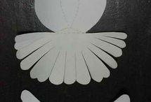 Paper doves / Christmas
