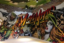 2D studio restaurant projects / Graphic walls