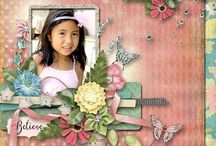 Digital Download  Scrap Book Pages, Papers and Elemaents / So many beautiful creations and designs for you to create your own photo collages and scrapbook pages. / by Glenda Rieck