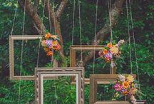 Wedding Day / Decoração / roupa dos padrinhos e madrinhas / Daminha de honra / Locação / Penteado, unha, maquiagem,vestido da Noiva / roupa do Noivo/Flores.  Estilo ao ar livre rústico e simples.