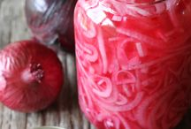 Red pickled onions