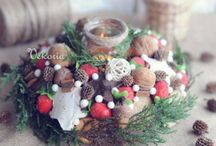 Etsy Shop Vekoria / Home decoration in rustic style handmade: wreaths, flower arrangement, candlesticks, decorations on the wall and table.  http://www.etsy.com/shop/vekoria
