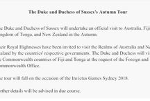 Harry - 2018 Australia Tour / First royal tour as Duke and Duchess of Sussex