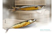 Pylarinos advertising sea food restaurant / Smoked mackerel