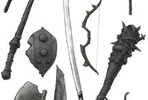 Armor part and weapon
