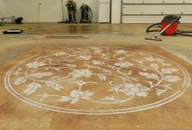Template Based Designs / Specialized concrete floor designs.