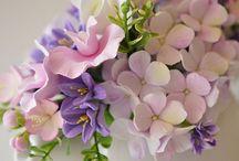 flores para fondant y porcelana