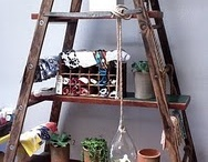 ladder Projects / What can you do with an old ladder that can no longer be safely used as a ladder?  Check out these ideas.  / by South Bend & Mishwaka ReStores
