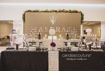 Charity Event Candy Bars / All of these Charity Event sweet tables have been designed by Candee Couture.